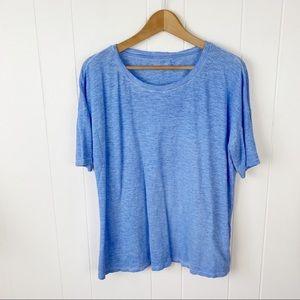 Eileen Fisher•Hemp organic cotton blue t shirt M